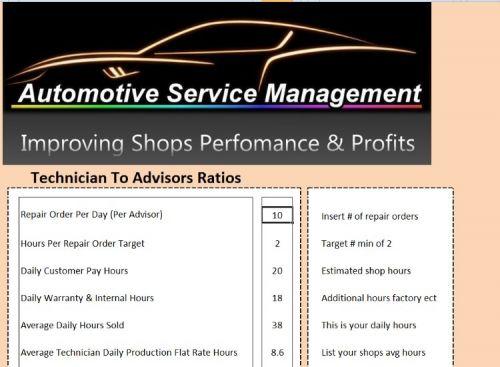 Advisor to Technician Ratio